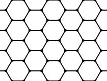 Design seamless monochrome hexagon pattern Stock Images