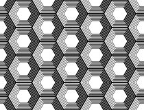 Design seamless monochrome hexagon pattern Royalty Free Stock Image