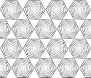 Design seamless monochrome hexagon pattern Stock Image