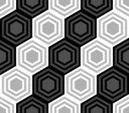 Design seamless monochrome hexagonal pattern Stock Image