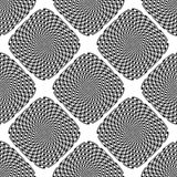 Design seamless monochrome illusion background Stock Images