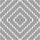 Design seamless monochrome interlaced diamond pattern Stock Photography