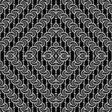 Design seamless monochrome interlaced diamond pattern Royalty Free Stock Images
