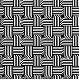 Design seamless monochrome interlaced pattern Stock Photo