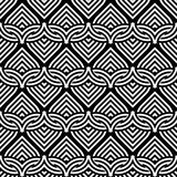 Design seamless monochrome interlaced pattern Royalty Free Stock Images