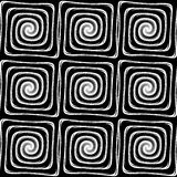 Design seamless monochrome labyrinth pattern Stock Images