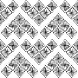 Design seamless monochrome labyrinth pattern Stock Image