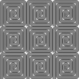 Design seamless monochrome labyrinth pattern Stock Photography