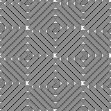 Design seamless monochrome labyrinth pattern Royalty Free Stock Photos