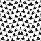 Design seamless monochrome lacy pattern Stock Photography