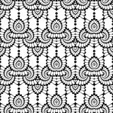Design seamless monochrome lacy pattern Royalty Free Stock Photo