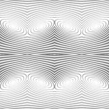 Design seamless monochrome lines background. Abstract striped torsion pattern. Vector art. EPS10 Royalty Free Stock Photos