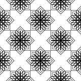 Design seamless monochrome snowflake pattern Stock Illustration