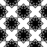 Design seamless monochrome snowflake pattern Royalty Free Illustration