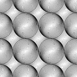 Design seamless monochrome sphere pattern Stock Images