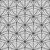 Design seamless monochrome spider web pattern. Mon Stock Image