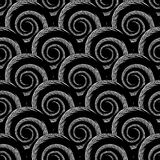 Design seamless monochrome spiral pattern Royalty Free Stock Photos