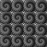 Design seamless monochrome spiral pattern Stock Photo