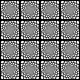 Design seamless monochrome spiral pattern Stock Photography