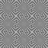 Design seamless monochrome spiral pattern Royalty Free Stock Photo