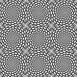 Design seamless monochrome spiral pattern vector illustration