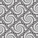 Design seamless monochrome spiral pattern Royalty Free Stock Photos