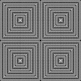 Design seamless monochrome square pattern Royalty Free Stock Image