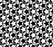 Design seamless monochrome star geometric pattern Stock Photography