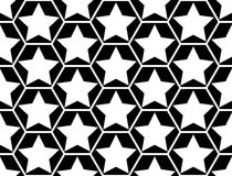 Design seamless monochrome star pattern Stock Photos