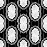 Design seamless monochrome striped pattern Stock Photo