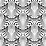 Design seamless monochrome striped pattern Royalty Free Stock Photos