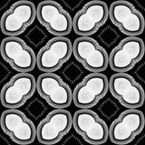 Design seamless monochrome striped pattern Stock Photography