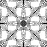 Design seamless monochrome striped pattern Royalty Free Stock Photography
