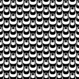 Design seamless monochrome striped pyramid pattern Royalty Free Stock Photography
