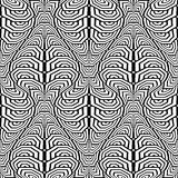 Design seamless monochrome stripy pattern Stock Photography