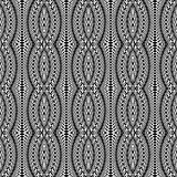 Design seamless monochrome stripy pattern Stock Image
