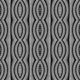 Design seamless monochrome stripy pattern Royalty Free Stock Image