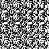 Design seamless monochrome swirl pattern. Uncolore Royalty Free Stock Photo