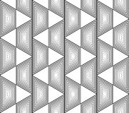 Design seamless monochrome trapezium pattern Royalty Free Stock Image