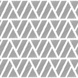 Design seamless monochrome triangle pattern Royalty Free Stock Images