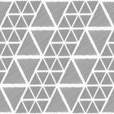 Design seamless monochrome triangle pattern Stock Photography
