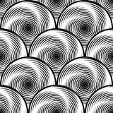 Design seamless monochrome twirl background Stock Photo