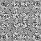 Design seamless monochrome twirl pattern Royalty Free Stock Images