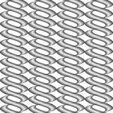 Design seamless monochrome twisted pattern Royalty Free Stock Photography