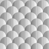 Design seamless monochrome volumetric pattern Royalty Free Stock Photography