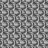 Design seamless monochrome vortex pattern Stock Photo
