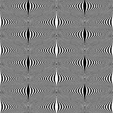 Design seamless monochrome warped pattern Stock Photography