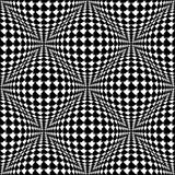Design seamless monochrome warped pattern Stock Photos