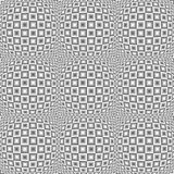 Design seamless monochrome warped pattern Royalty Free Stock Photos