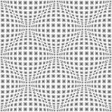 Design seamless monochrome warped pattern Royalty Free Stock Images